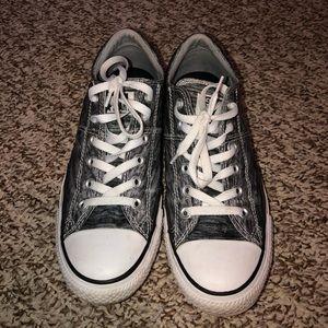 Heather Grey Converse tennis shoes